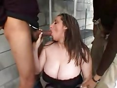Big Boobs Pornstar Stockings Threesome