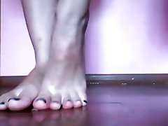 Amateur Close Up Foot Fetish POV Webcam
