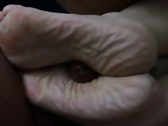 Amateur BBW Cumshot Foot Fetish Interracial