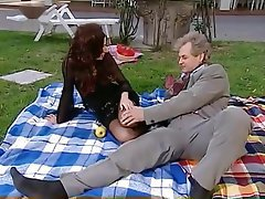 Babe Blowjob Old and Young Outdoor