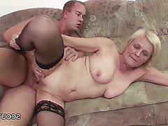 Granny MILF Old and Young Stockings Teen
