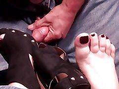 BBW Cumshot Foot Fetish