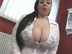 BBW Big Boobs British Pornstar