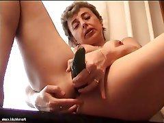 Dildo Granny Masturbation Mature
