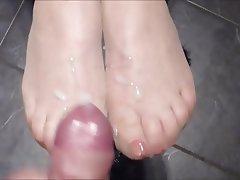 Handjob Stockings Pantyhose Footjob