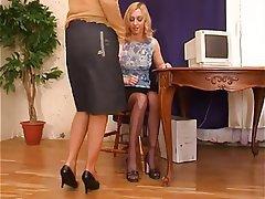 Foot Fetish Lesbian Masturbation Pantyhose