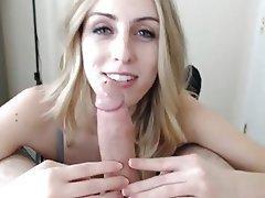 French Amateur Blonde Blowjob