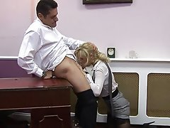 Blowjob Blonde Facial Pantyhose