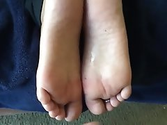 Amateur Cumshot Foot Fetish Footjob Wife