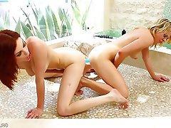 Anal Cunnilingus Dildo Lesbian