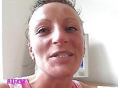 Brunette German MILF Masturbation