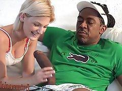 Big Cock Blonde Blowjob Hardcore Interracial