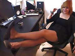 Femdom Foot Fetish French Mistress Stockings