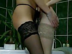 Cunnilingus German Lesbian Small Tits Stockings