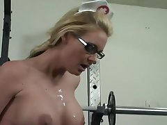 Blonde Blowjob Cumshot Big Boobs Doctor