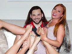 Stockings Redhead Foot Fetish Footjob Whore