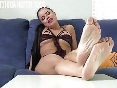BDSM Stockings Femdom POV Foot Fetish