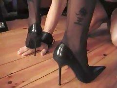 Femdom Foot Fetish MILF Stockings