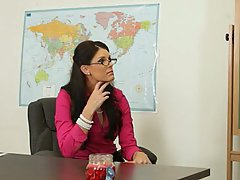 Brunette Glasses MILF Office