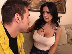 Big Tits Blowjob Brunette Housewife