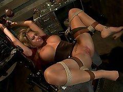 BDSM Blonde Black Fisting