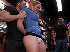 Blonde Public BDSM Submissive
