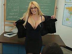 Blonde Blowjob Glasses MILF