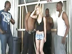 Blonde Gangbang Hardcore Interracial