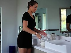 Babe Bathroom Beauty Blowjob