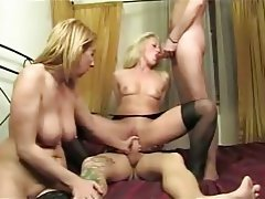 Blonde Group Sex Hardcore Italian MILF
