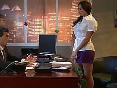 Office Brunette Mistress Stockings