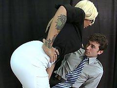 Blonde Glasses Big Tits Teacher