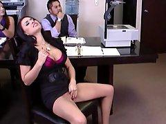 Office Brunette Big Tits Big Cock