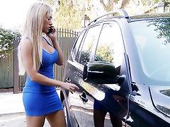 Big Tits Ebony Blowjob Creampie