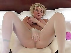 Blonde Foot Fetish Mature Pantyhose