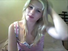 Blonde Close Up Masturbation Skinny Webcam