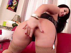 Big Ass Big Tits Ebony Stockings Masturbation