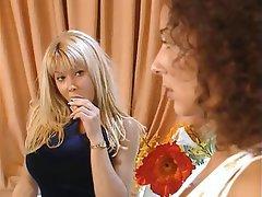 Anal Blonde Brunette Group Sex Double Penetration