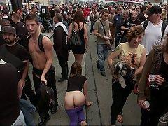 BDSM Brunette Fetish Public