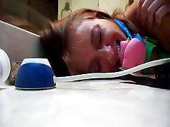 Amateur BDSM Brunette Close Up Creampie