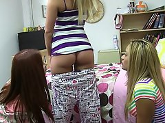 Blonde Brunette Coed College