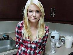 Blonde Coed Cute POV
