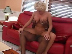 Blonde Blowjob Cumshot Interracial MILF