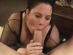 Amateur BBW Blowjob Brunette Close Up