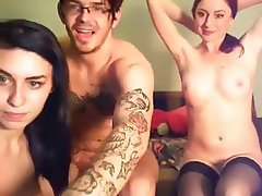 Amateur Babe Group Sex Threesome