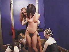 BDSM Lesbian Brunette Group Sex Big Boobs