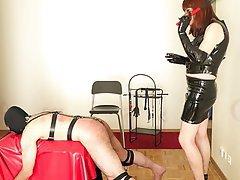 BDSM Redhead Spanking