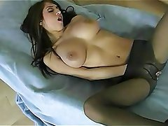 Big Boobs Brunette Lingerie Masturbation