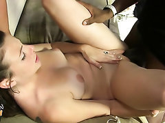 Big Tits Blowjob Creampie Ebony Glasses