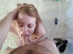 Blonde Blowjob Facial